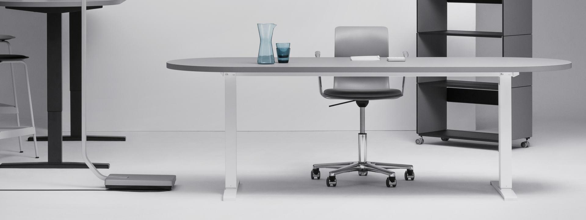 Hubert motorized (Centered Leg), Table Frames