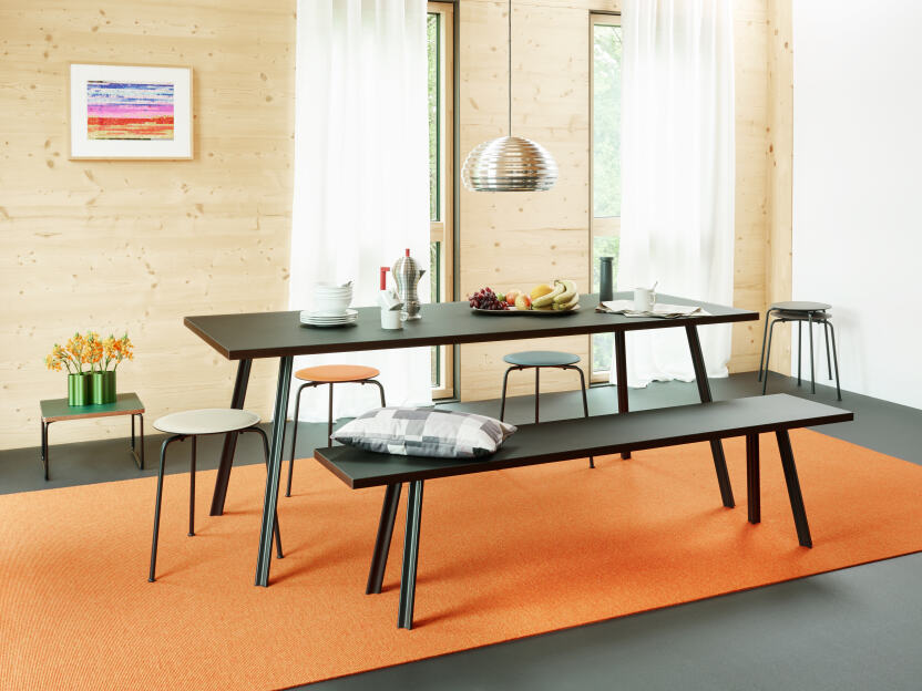 Configure a bench which matches your linoleum table