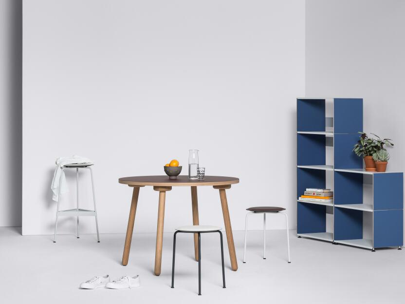 ravioli linoleum barhocker m by daniel lorch sitzsysteme. Black Bedroom Furniture Sets. Home Design Ideas