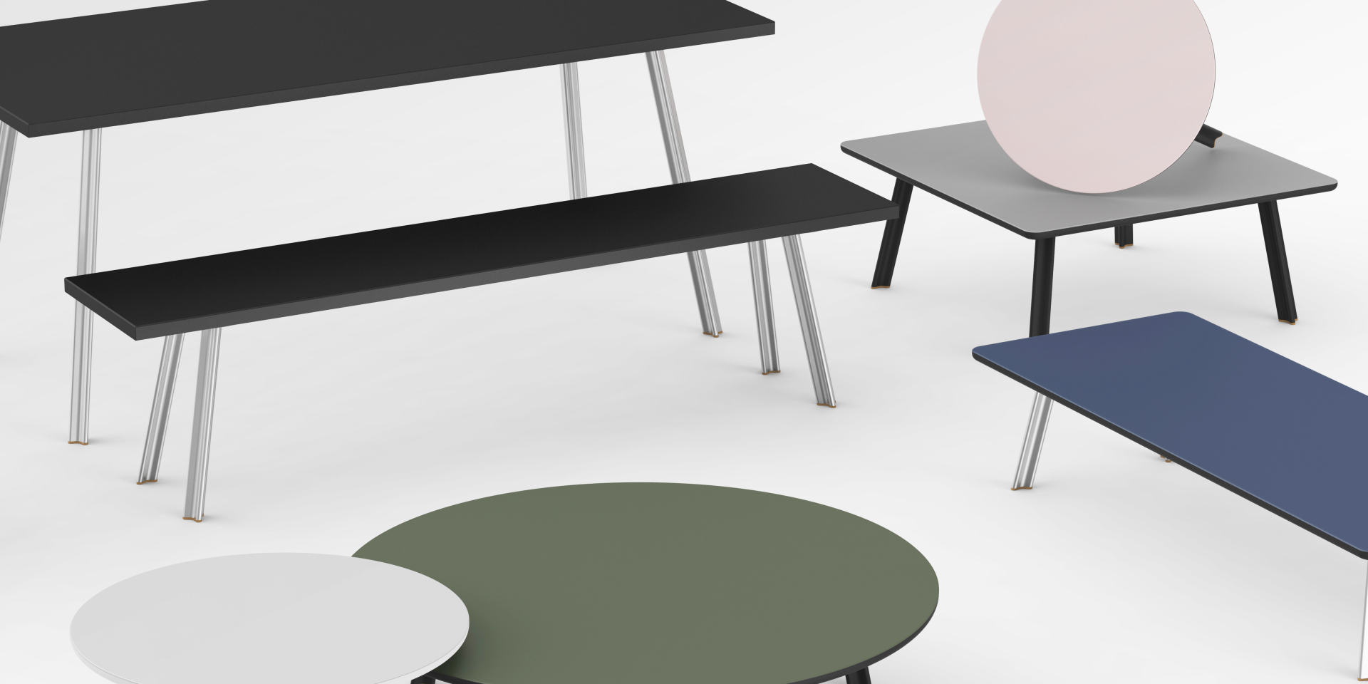 Home, Tabletops, Tables & Trestles, Shelving System, Seating Systems, Office, Accessories